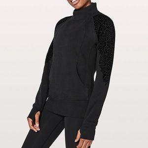 🆕Lululemon Floral Flock Black Pullover Sweatshirt